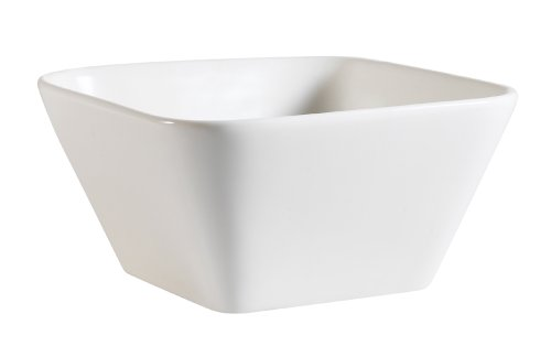 CAC China PLT-B6 Accessories 6-Inch by 3-Inch 22-Ounce New Bone White Porcelain Square Bowl, Box of 36 by CAC China