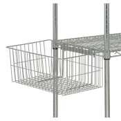 "Quantum Storage Systems UB10 Utility Basket for Wire Shelving Units, Chrome Finish, 7-5/8"" Height x 11-1/4"" Width x 18-7/8"" Depth from Quantum Storage Systems"