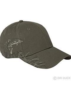 Dri Duck 3200 Wildlife Series Brushed Cotton Cap, Trout & - Duck Trout Dri
