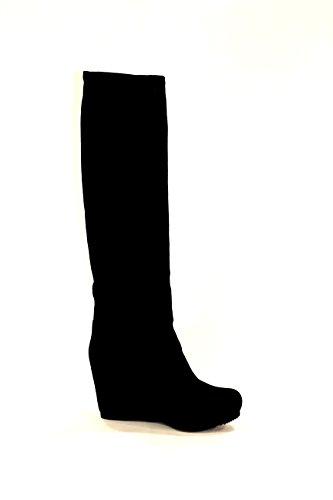 Black Women's Black Boots Car Shoe qz46HH