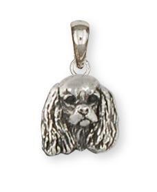 Cavalier King Charles Spaniel Jewelry Sterling Silver Cavalier King Charles Spaniel Pendant Handmade Dog Jewelry -