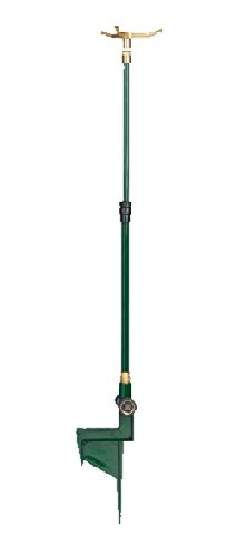 2 Pack – Orbit Adjustable Brass 3-Arm Telescoping Lawn Sprinkler with Step Base Review