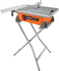 RIDGID 7 in. Tile Saw with Stand by Ridgid