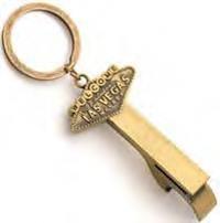 Las Vegas Key Chain Bottle Opener Bronze