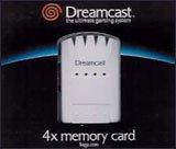 Sega Dreamcast 4x Memory Card (Sega Dreamcast Memory Card)