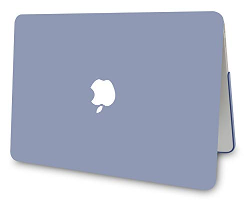 "KECC Laptop Case for MacBook Air 13"" w/Keyboard Cover Plastic Hard Shell Case A1466/A1369 2 in 1 Bundle (Lavender Grey)"