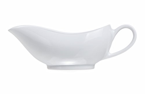 4-Piece Porcelain 5 Oz Classic Gravy Suace Boat, Restaurant&Hotel Quality by Smart And Cozy