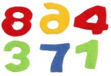 Glorex Numbers for Decoration, Felt Shapes, Multicoloured, 17x 11.5x 1cm, 150Units