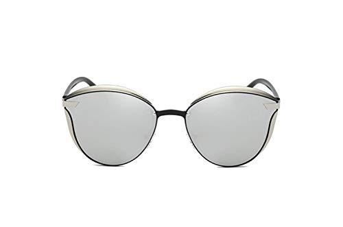 De Gafas UV Protección De Sol Polarizador De liwenjun Protector Sol Conducción Gafas Gafas Plata De Blanco De Redonda Marco Grande Marco Mercurio Cara Tnw5qwf