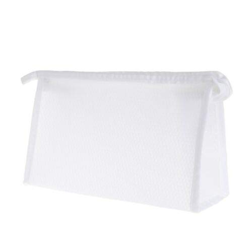 Women Mesh Bag Travel Cosmetic Bags Makeup Case Storage Pouch Toiletry Organizer (Color - White)