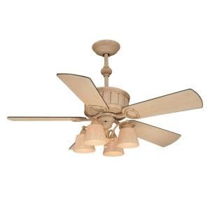 Hampton Bay Torrington 52 In. Cottage Wood Ceiling Fan - Beadboard Blades