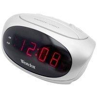 (Westclox 70044B Super-Loud LED Electric Alarm Clock, White,)