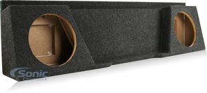 Bbox A142-10CP Dual 10″ Sealed Carpeted Subwoofer Enclosure – Fits 2007 – 2014 Chevrolet / GMC Silverado / Sierra Extended Cab