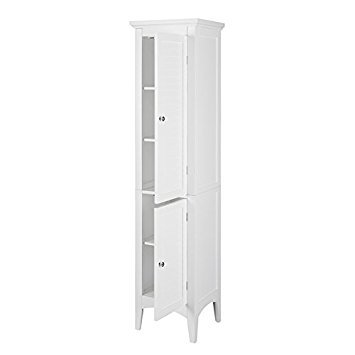 Bayfield White 2-door Linen Tower by Elegant Home Fashions by Bayfield