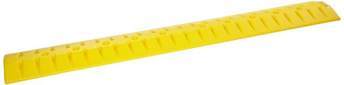 Eagle 1792 6' High Density Polyethylene Speed Bump - Cable Guard with Anchor Kit, Yellow, 72