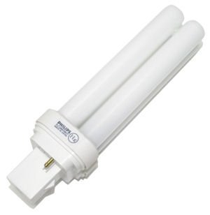 Philips 204792 PL-C 15MM/28W/27 Double Tube 2 Pin Base Compact Fluorescent Light Bulb