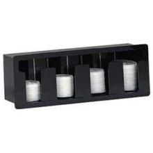 Dispense Rite Built In Lid - Dispense Rite Black Acrylic Horizontal Built-in Lid Organizer, 7 1/4 x 21 x 5 3/8 inch -- 1 each. by Dispense Rite
