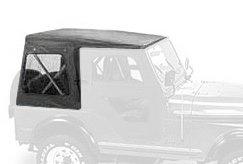 Jeep Cj5 Tops (Bestop 51117-01 Black Crush Replace-A-Top Soft Top Clear Windows w/ Upper Door Skins for 1976-1983 Jeep CJ-5)
