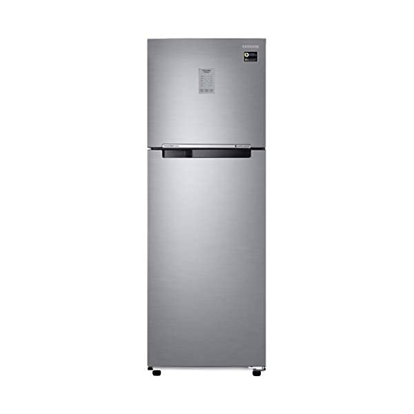 Samsung 275 L 3 Star with Inverter Double Door Refrigerator (RT30T3743S9/HL, Refined Inox, Convertible) 2021 August Frost Free, Double Door: auto defrost to stop ice-build up Capacity 275 liters: suitable for families with 2 to 3 members and bachelors Energy rating 3 Star : high Energy Efficiency