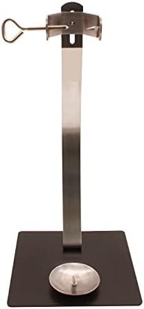 Soporte jamonero New Generation vertical con herraje Inoxidable y base de acero color negro