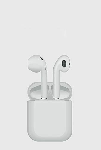 Wireless Bluetooth Earphones for Smart Phone,in-Ear Earphones Stereo Sound Noise Cancelling 2 Built-in Mic Earphones,Lasting High Capacity Hi-Fi Earbuds,White