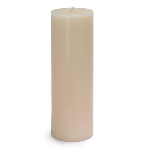 "Zest Candle CPZ-094_12 12-Piece Pillar Candle, 3"" x 9"", Ivor"