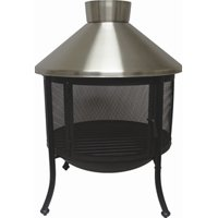 Catalina Creations Outdoor Fireplace with Lift Tool, Log Grate, and Protective Cover