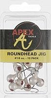 Jig White Heads - Apex Jig Heads (Pack of 10), White, 1/8-Ounce
