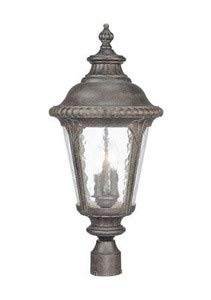 (Acclaim 7227BC Surrey Collection 3-Light Post Mount Outdoor Light Fixture, Black Coral)