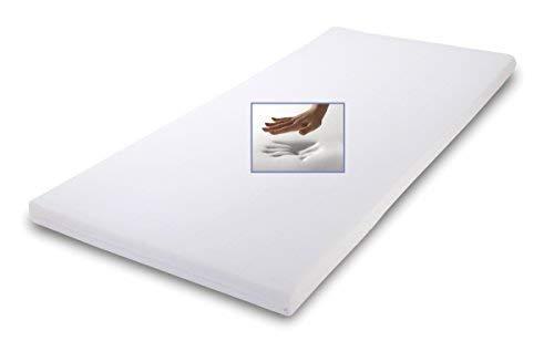 Supply24 Viskoelastische/viscoelastische Matratzenauflage Höhe 7 cm, 80/90 / 100 x 190/200 cm, Visco Auflage für Matratze, Visko Topper soft/weich inkl. Baumwollbezug günstig