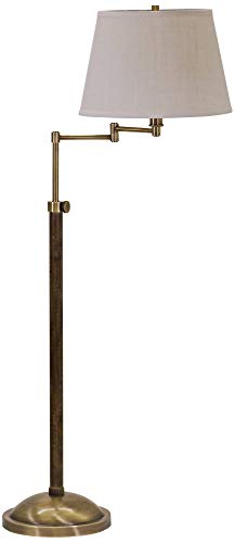 House of Troy R401-AB Richmond Swing Arm Floor Lamp, Antique Brass