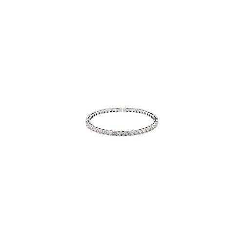 14k White Gold 3 1/3 Ct-tw Polished Diamond Bangle Bracelet