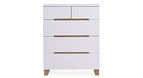 Urban Ladder Oslo Chest of Drawers  Gloss Finish, White