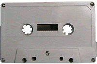 25pk. - NRS HIGH ENERGY 47Min. Blank Bulk Normal Bias Cassettes WHITE