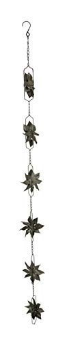 (Distinctive Designs Metal Pinwheel Rain Chain with Attached Hanger 48 inch)