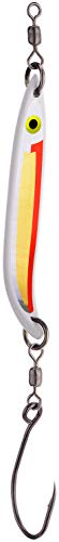 PEETZ CJ Special 3.5-Inch Aluminum Minnow Spoon Lure | UV Fluorescent Red & Silver/Gold Scale | Rolling Hard Bait for Steelhead Fishing