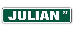 - JULIAN Street Sticker Sign kids room childrens name gift kid child boy girl wall entry