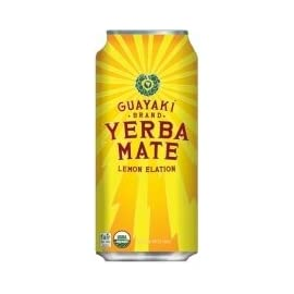 Guayaki Yerba Mate - Lemon Elation - 16oz.(Pack of 8) 4 8 Pack - 16oz. cans Organic, Kosher, Fair Trade, Non GMO Check out The Energy Drink Outlet's selection of energy drinks!