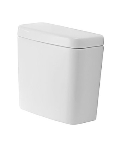 Duravit 0927200001 D-Code Toilet Tank with Side Lever, White Finish by Duravit