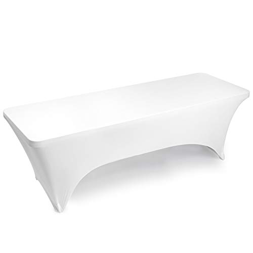 Lann's Linens - 8' Fitted Stretch Tablecloth for 96