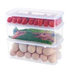 3 recipientes de almacenamiento de alimentos, apilables, para ...
