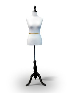 "White Female Dress Form Size 6-8 Medium 34"" 26"" 35"" from Only Mannequins®"