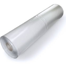 Plastic Poly Sheeting 20 Feet X 100 Feet, True 10 Mil, Transparent/White, Incredibly Durable, Top Visqueen Plastic Sheeting
