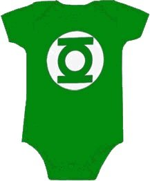 Green Lantern Uniform Costume Kelly Green Snapsuit Infant Onesie Baby Romper (18 Months)
