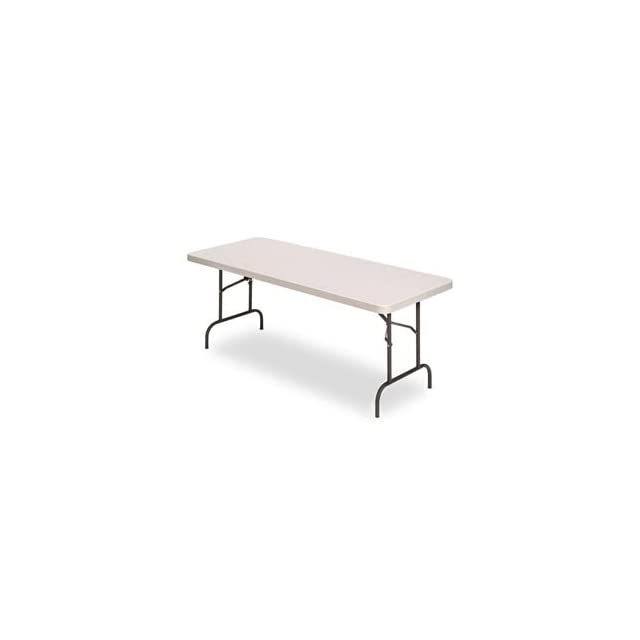 IndestrucTable TOO 600 Series 48 Folding Table in Platinum Size 29 H x 30 W x 60 D