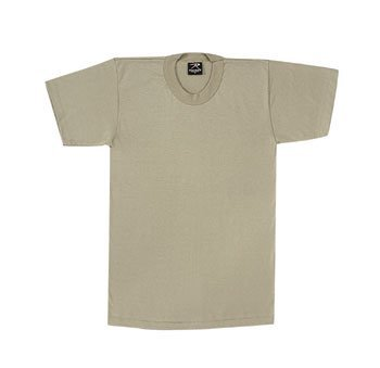 Shirts Khaki Military (Rothco T-Shirt, Poly/Cotton/Khaki, Medium)