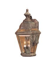 Artistic 3092-AC 3 Light Outdoor Wall Lanterns - Aged Copper