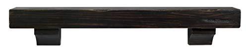 Wood Mantels Rustic - Pearl Mantels 412-48-20 The Shenandoah 48-Inch Shelf/Mantel Shelf Espresso Rustic Distressed Finish