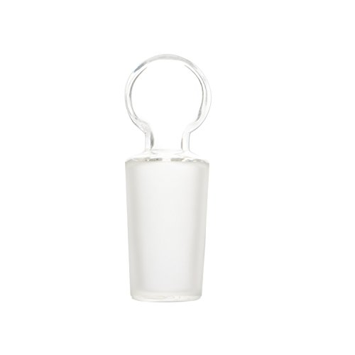 StonyLab Glass Penny Head Glass Hollow Stopper for 24/40 Outer Joint Glass, with Closed Bottom (1 Pack)