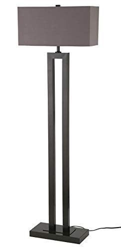 (Stone & Beam Modern Metal Cut-Out Living Room Standing Floor Lamp With Light Bulb - 59.5 Inches, Earth Tone Shade)